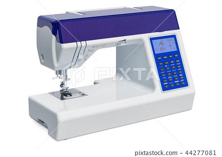 Modern electronic sewing machine close-up 44277081