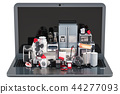 Online Shopping concept. Laptop with kitchen 44277093