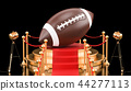Podium with American football ball, 3D rendering 44277113