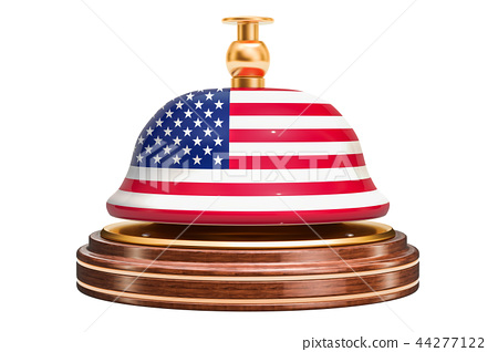 Reception bell with American flag, service 44277122