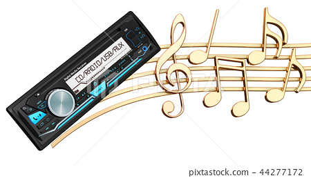 Musical concept. Digital media receiver with music 44277172