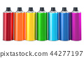 Row from colored aerosol spray paints 44277197