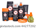Set of insect repellent products, 3D rendering 44277202