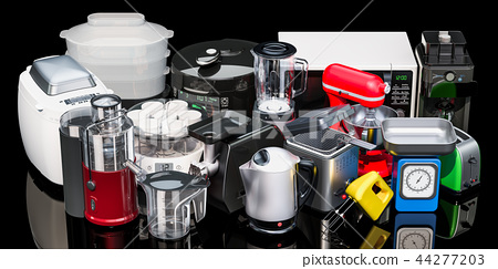 Set of small kitchen home appliances 44277203