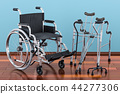 Wheelchair, walking frame and crutches 44277306