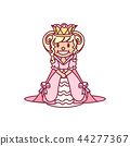 vector little princess, queen 44277367