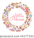 vector Little Princess icons frame 44277393
