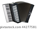 Accordion. 3D rendering 44277581