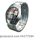 Analog Digital Wrist Watch for men, 3D rendering 44277584
