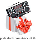 Gift box with boombox, 3D rendering 44277836