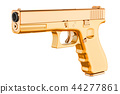Golden Gun, 3D rendering 44277861