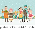 family, pretty, snow 44278084