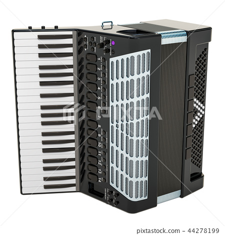 Modern digital accordion. 3D rendering 44278199