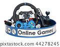 Online Games concept, 3D rendering 44278245