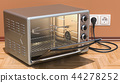 Opened Convection Toaster Oven with Rotisserie 44278252