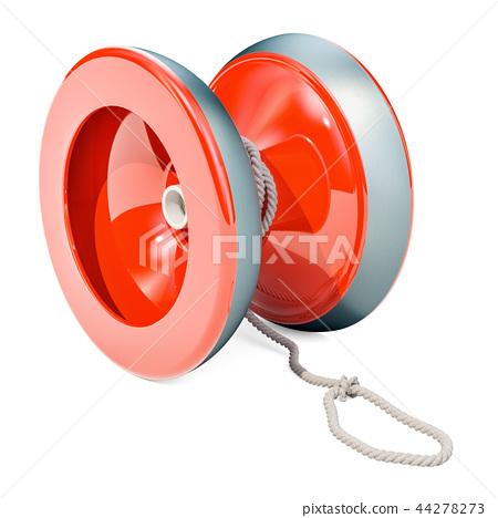 Red yo-yo, 3D rendering 44278273