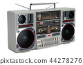 Retro Boombox 1980s on the wooden table 44278276