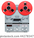 Retro reel-to-reel tape recorder, 3D rendering 44278347