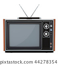 Retro TV set front view, 3D rendering 44278354