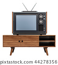 Retro TV set on the stand, 3D rendering 44278356