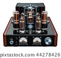 Vintage stereo amplifier, 3D rendering 44278426