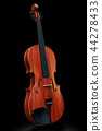 Violin on the black backdrop, 3D rendering 44278433