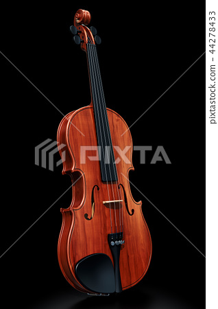 Violin on the black backdrop, 3D rendering 44278433