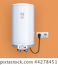 white tank electric water heater in interior 44278451