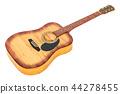 Wooden guitar, 3D rendering 44278455