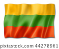 Lithuanian flag isolated on white 44278961