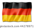 German flag isolated on white 44278971