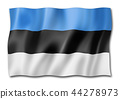 Estonian flag isolated on white 44278973