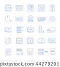 Set Vector Flat Line Icons Upgrading Computer 44279201