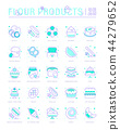 Set Line Icons of Flour Products 44279652
