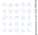 Set Vector Line Icons of Flour Products. 44279654