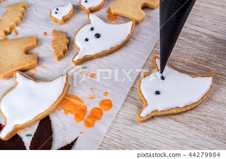 万圣节 饼干 做 44279984