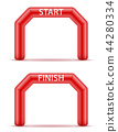 inflatable line start finish for sport vector  44280334