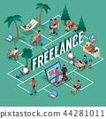 Freelancer Isometric Flowchart  44281011