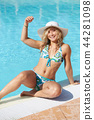 girl at swimming pool 44281098