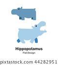 Hippopotamus Flat Icon 44282951