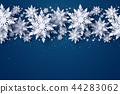 christmas snowflakes paper 44283062