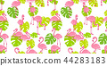 Flamingo seamless pattern vector pink Flamingos 44283183