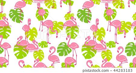 Flamingo seamless pattern vector pink Flamingos 44283183