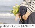 懷孕 孕婦 一個年輕成年女性 44283771