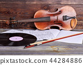 Musical background in vintage style. 44284886