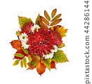 Autumn bouquet with chrysanthemum flowers  44286144