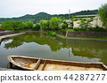 oumihachiman city, riverside district, canal 44287277