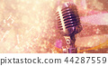 Composite image of close-up of microphone 44287559