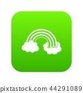 Rainbow LGBT icon digital green 44291089