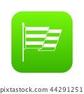 Flag LGBT icon digital green 44291251